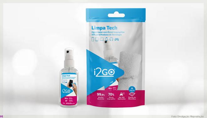 i2GO inova e lança o 1º higienizador para produtos eletrônicos do Brasil, o Limpa Tech